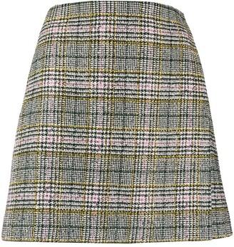 Ermanno Scervino Check Print Skirt