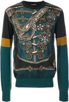 Dolce & Gabbana military print jumper