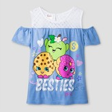 Shopkins Girls' Shopkins Besties Crochet Lace Top - Blue