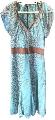 Philosophy di Alberta Ferretti Turquoise Silk Dress for Women