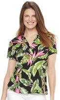 Caribbean Joe Women's Button Front Camp Shirt
