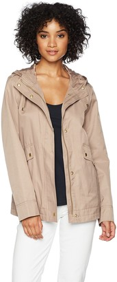 Cole Haan Women's A-line Jacket with Attached Hood