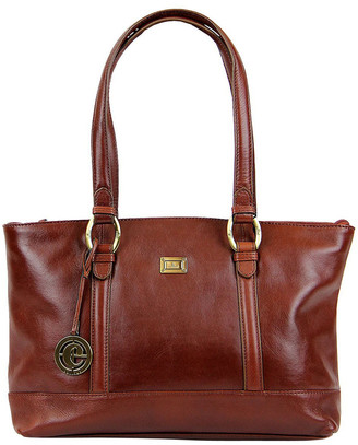 Cellini Double Handle Tote In Tan Clg013