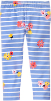 Gymboree Faberge Blue Flower Stripe Leggings - Infant & Toddler