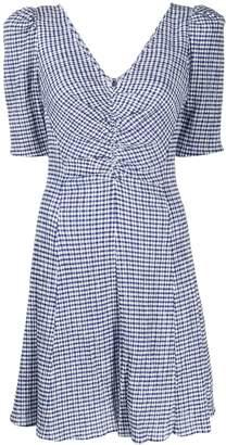 STAUD gingham mini dress