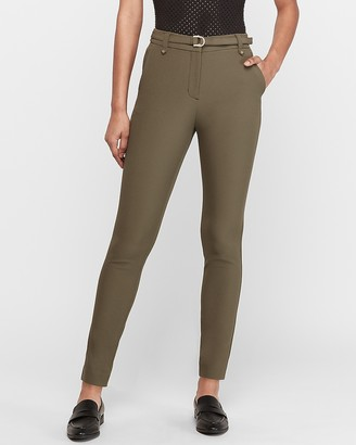 Express High Waisted Supersoft Belted Skinny Pant