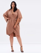 Pretty Frill Wrap Dress