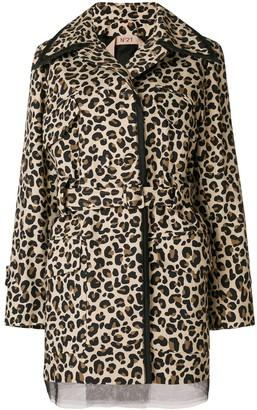 No.21 Leopard Print Belted Jacket