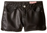 Blank NYC Kids - Vegan Leather Detailed Shorts in Lace-Up Girl's Shorts