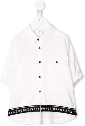 DKNY TEEN pointed collar shirt