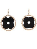 Asha Scalloped Cutout Black Onyx Earrings