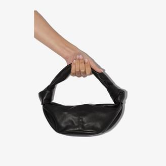 Bottega Veneta black mini Jodie leather clutch bag
