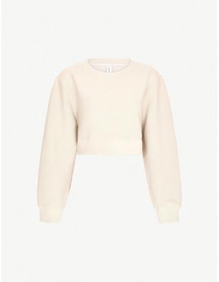 Varley Albata cropped cotton-blend jersey sweatshirt