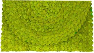 Poppy + Sage Grass Clutch - Lime Green Straw