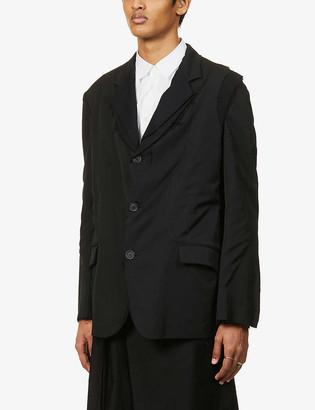 Yohji Yamamoto Raw-trim exposed-seam wool blazer