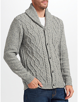 John Lewis Frosty Cable Cardigan, Grey