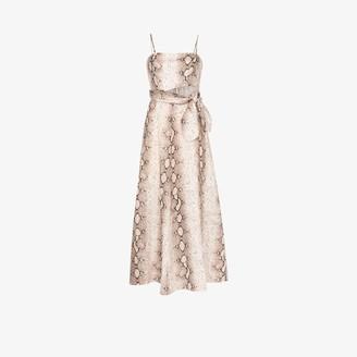 Zimmermann Bellitude snake print linen maxi dress