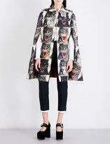 Gucci Tiger-print wool cape