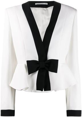 Alessandra Rich Bow Detail Jacket