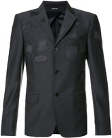 Alexander McQueen patched blazer jacket - men - Cotton/Viscose/Wool - 48