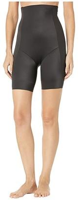 Miraclesuit Shapewear Smooth Sculpt High-Waist Thigh Slimmer (Black) Women's Underwear