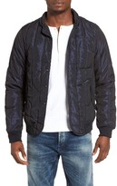 Scotch & Soda Men's Iridescent Moonshine Quilted Bomber Jacket