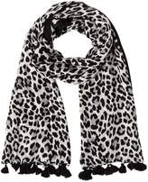 Kate Spade Classic Leopard Woven Scarf