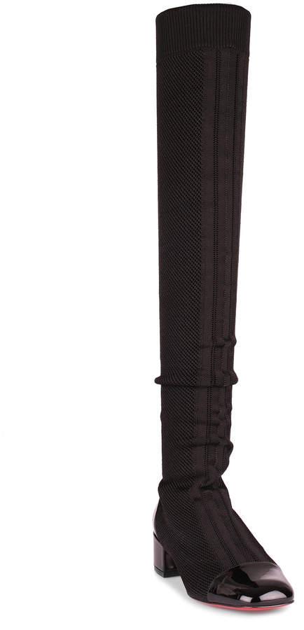 Christian Louboutin Trebiba black stretch knee boot