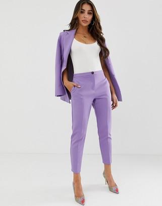Asos Design DESIGN pop slim suit pants-Purple