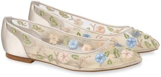 Bella Belle Pippa Embellished Floral Ballet Flat