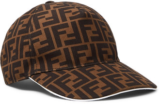 Fendi Logo-Jacquard Coated-Canvas Baseball Cap