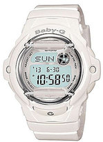 Baby-G White Jelly Resin Digital Databank Watch