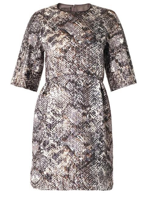 Giambattista Valli Metallic reptile-jacquard dress