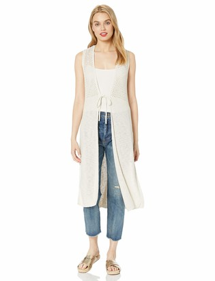 Cupcakes And Cashmere Women's Mirage tie Front Duster Vest