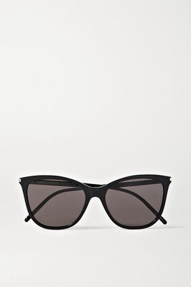 Saint Laurent Cat-eye Acetate Sunglasses - Black