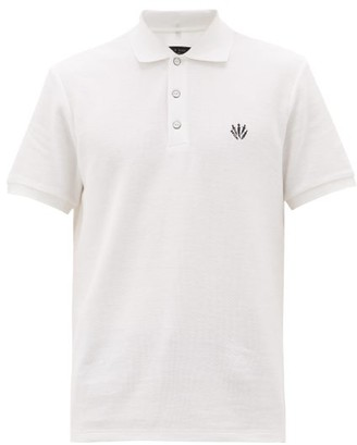 Rag & Bone Logo-embroidered Cotton-pique Polo Shirt - Mens - White