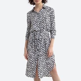 Vero Moda Printed Shirt Dress with Tie-Waist