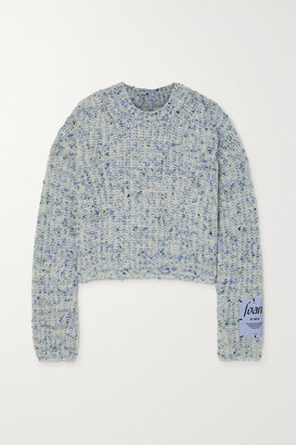 McQ Appliqued Wool-blend Sweater - Blue