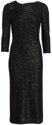 St. John Sequin Knit Sheath Dress