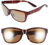 Maui Jim Men's 'Road Trip' 57Mm Polarized Sunglasses - Black And Grey Tortoise/rose