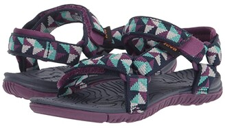 Teva Hurricane 3 (Toddler) (Ciment Squares Gloxinia) Kid's Shoes