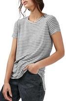 Topshop Women's Side Split Stripe Tee
