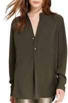 Polo Ralph Lauren Sheer Yoke Silk Shirt