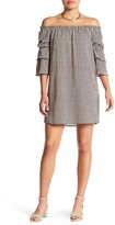 Bobeau Poet Sleeve Menswear Striped Dress (Petite)