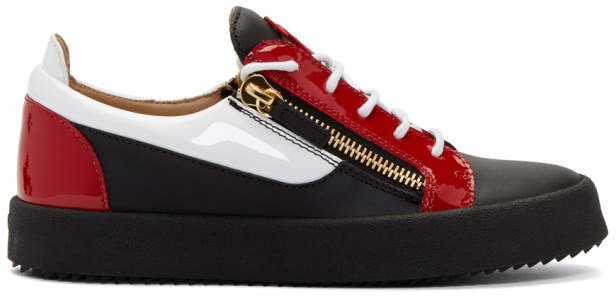 Giuseppe Zanotti Black and Red May London Sneakers