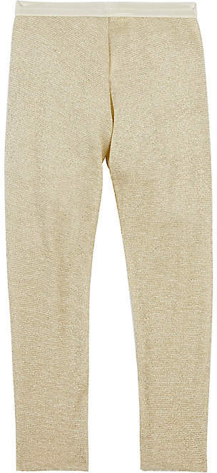 Oh Baby Oh Baby! Metallic-Stretch-Cotton Leggings