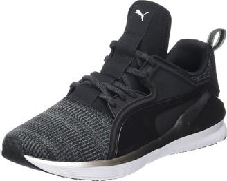 Puma Women's Fierce Lace Knit Fitness Shoes Black Black White 01 6 UK