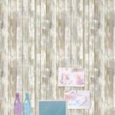 Room Mates Peel and Stick 16.5' x 20.5 Wood Distressed Roll Wallpaper