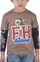 Ed Hardy Little Boys' Toddlers Boys Long Sleeve Cap Style T-Shirt - 3/