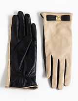 Kate Spade Pyramid Bow Leather Gloves